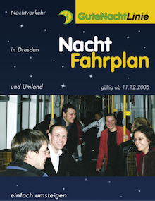 Night schedule flyer of 2005